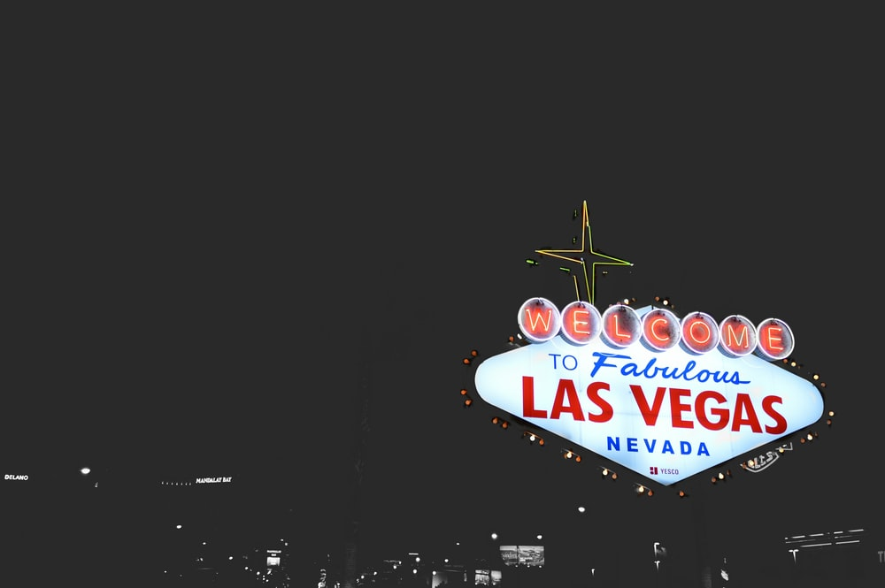 Las Vegas Nevada signage in Las Vegas, U.S.A. during nighttime