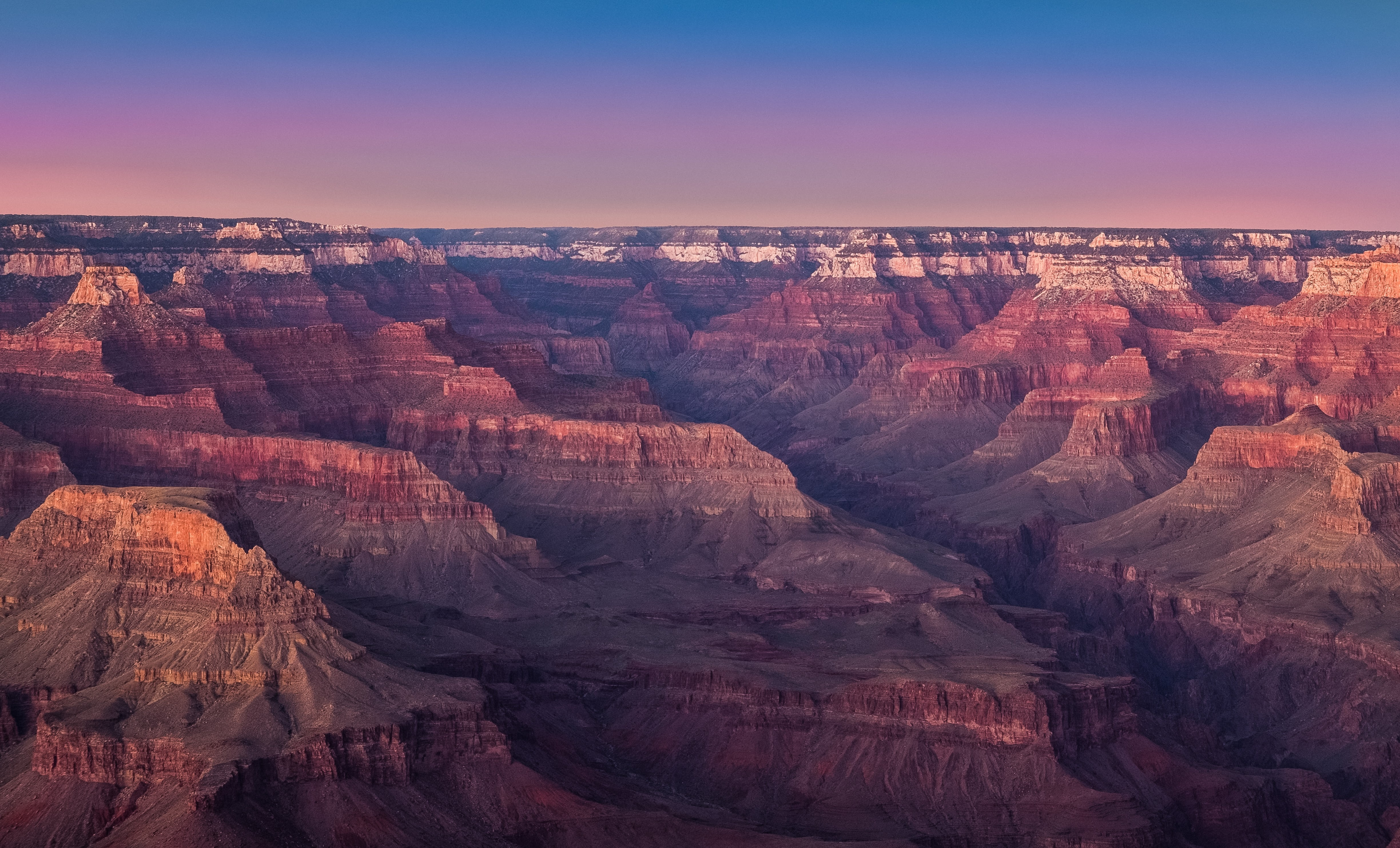 Colorful sunset over the beautiful Grand Canyon