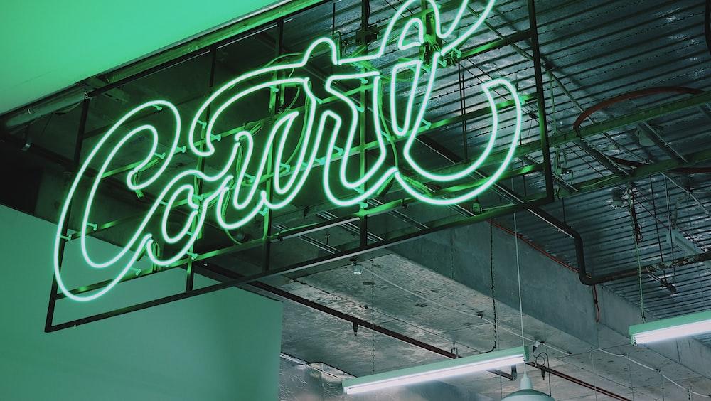 green signage