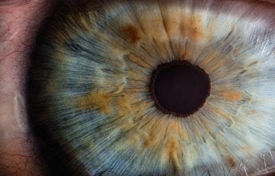 macro photography of human eye eye teams background