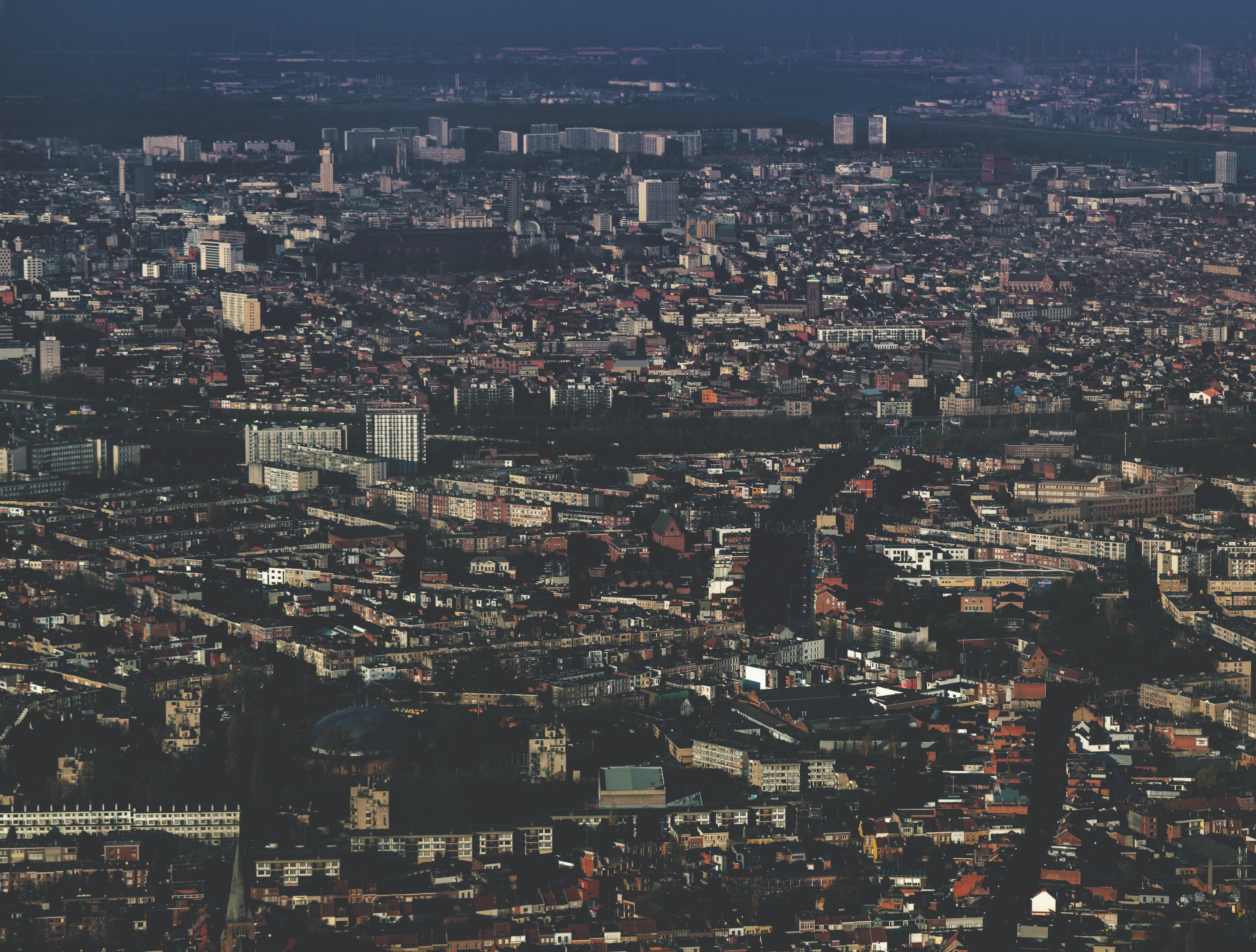 The vast cityscape of Antwerp