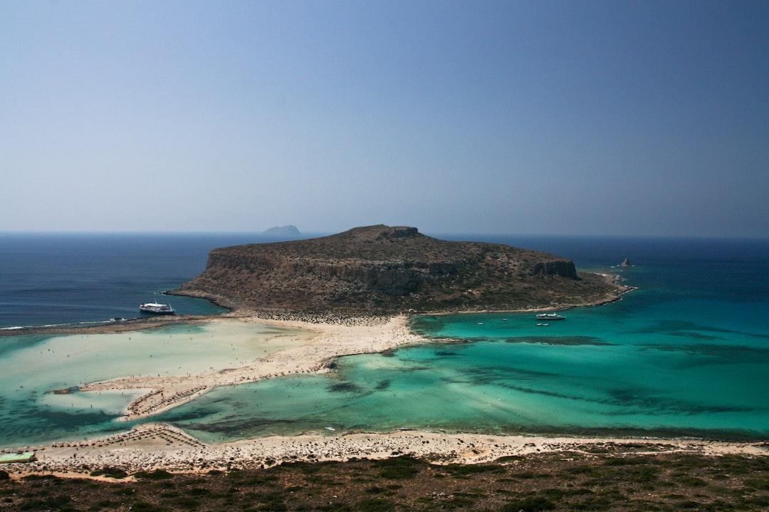 Cliff island in Crete