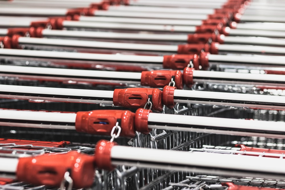 photo of stacked shopping carts