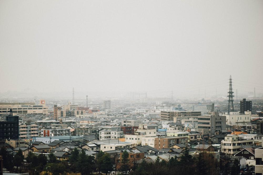 bird's eye view of concrete buildings