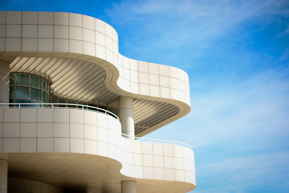 architectural photography of white hotel establishment