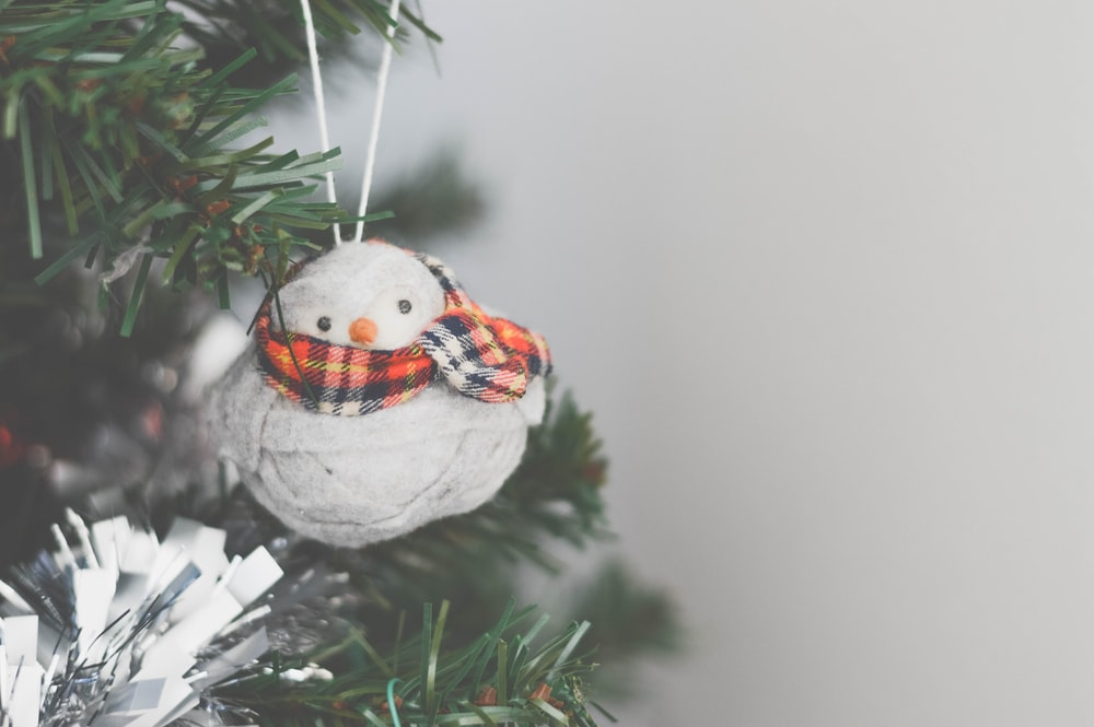 photo of snowman Christmas tree ornament