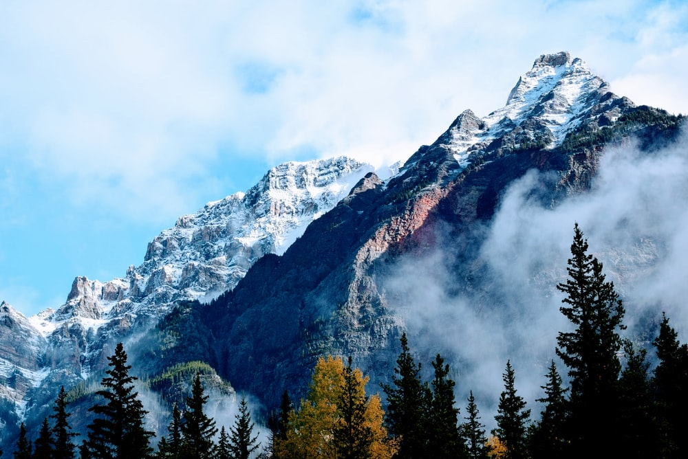 landscape photography of snow covered mountain