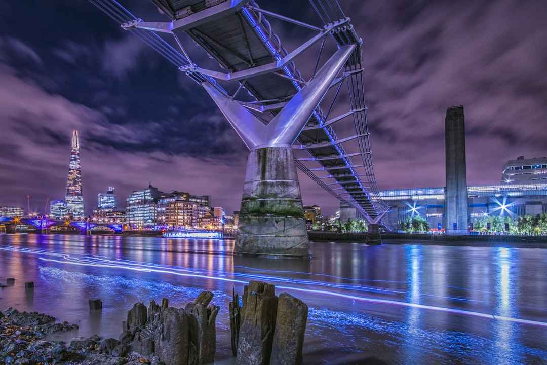 Millennium Bridge at night