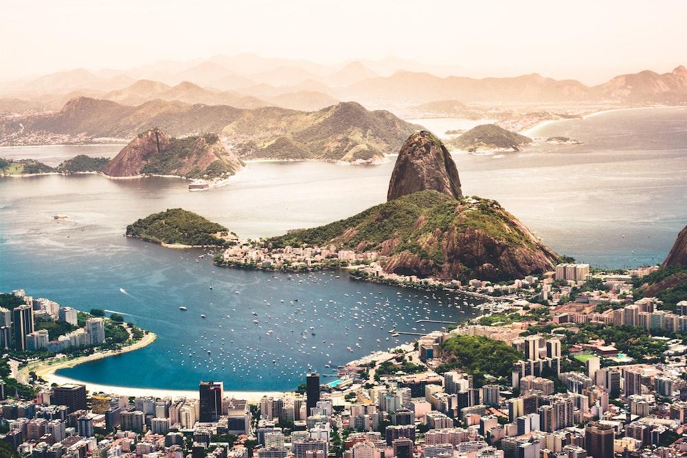 aerial photography of cityscape near sea