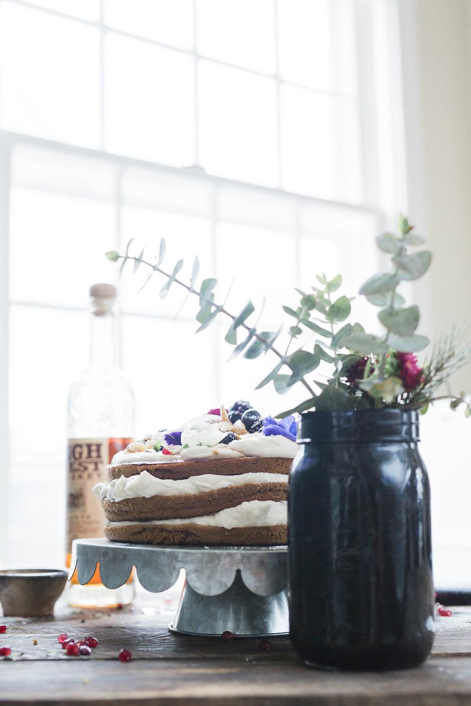 black mason jar with plant