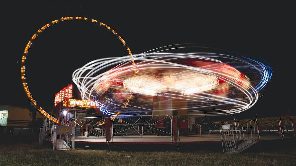 light photography near Ferris wheel