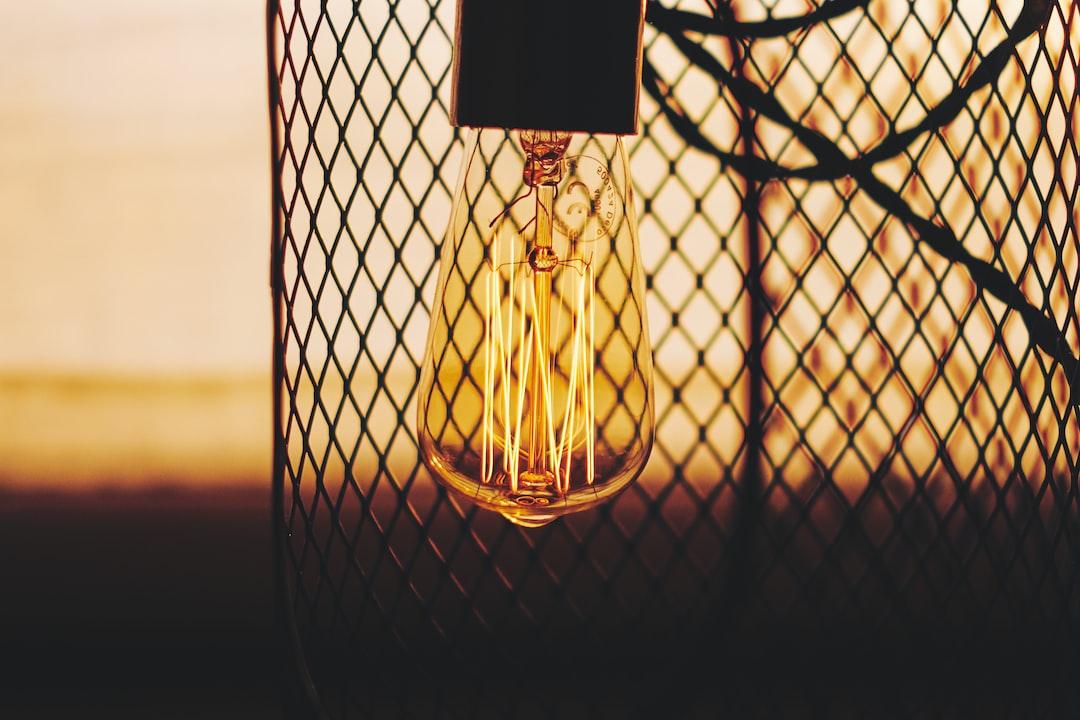 Light bulb at sunset