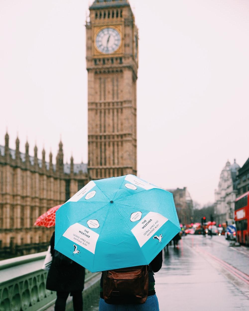 person taking photo on Big Ben