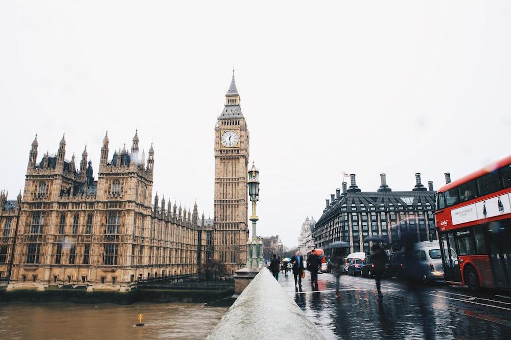 people near Big Ben in London