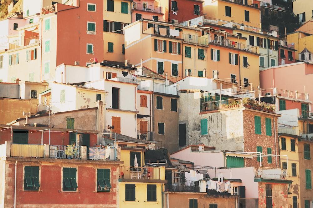 concrete buildings on hill