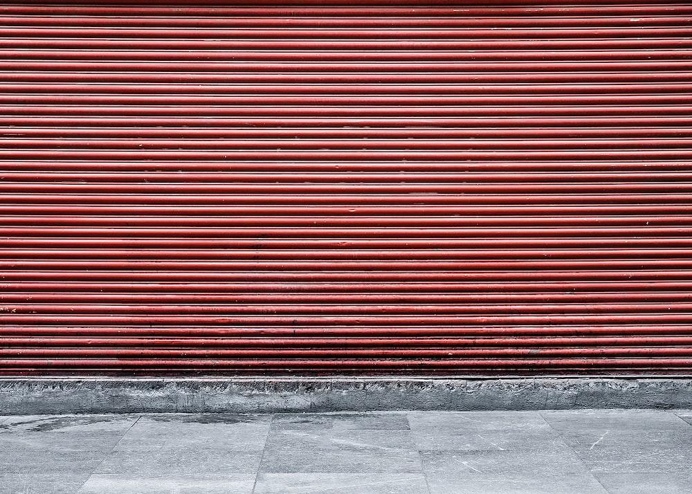 brown roller shutter
