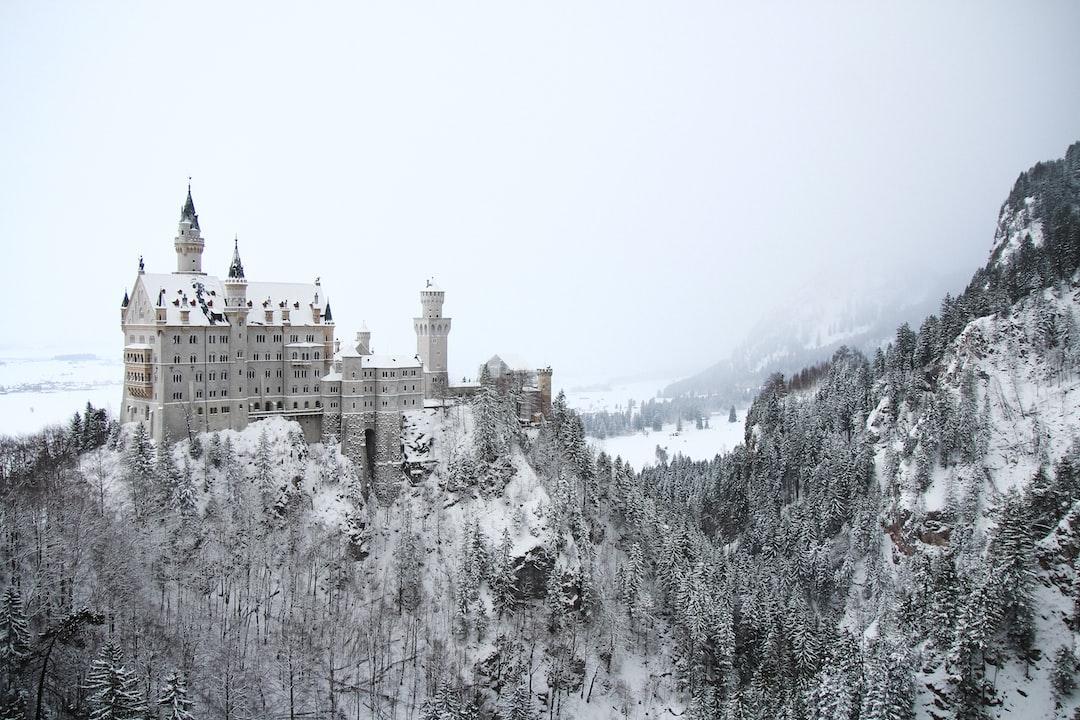 Neuschwanstein in the middle of winter