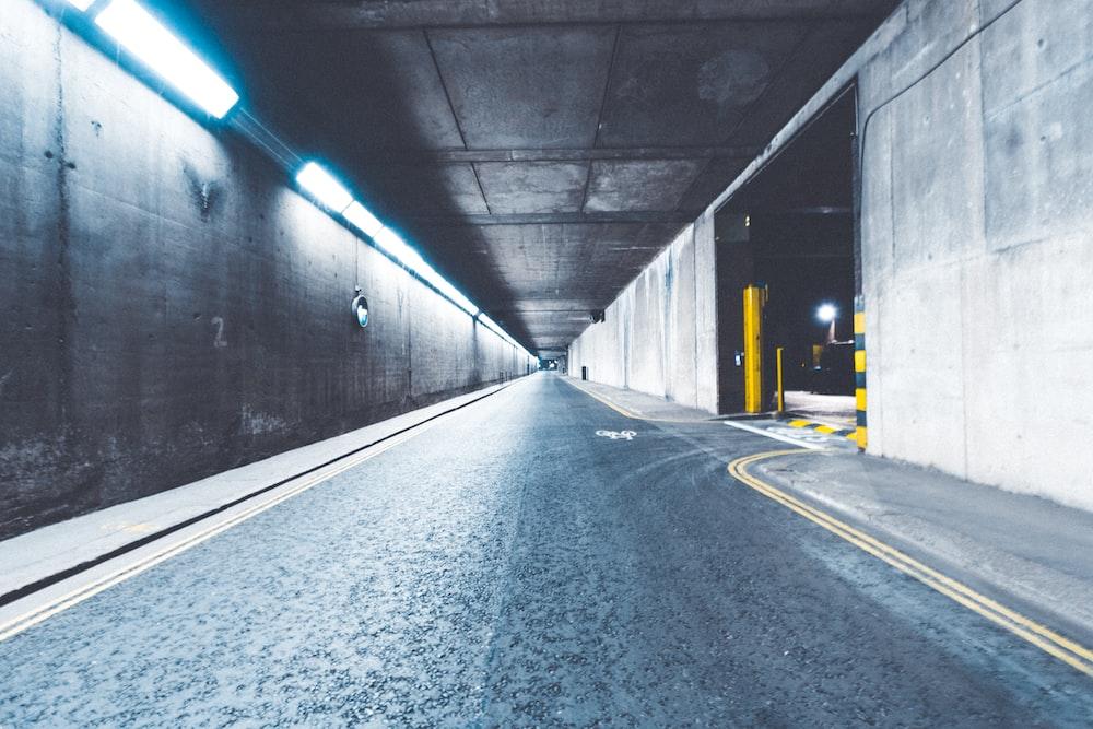 road under galvanized iron sheet