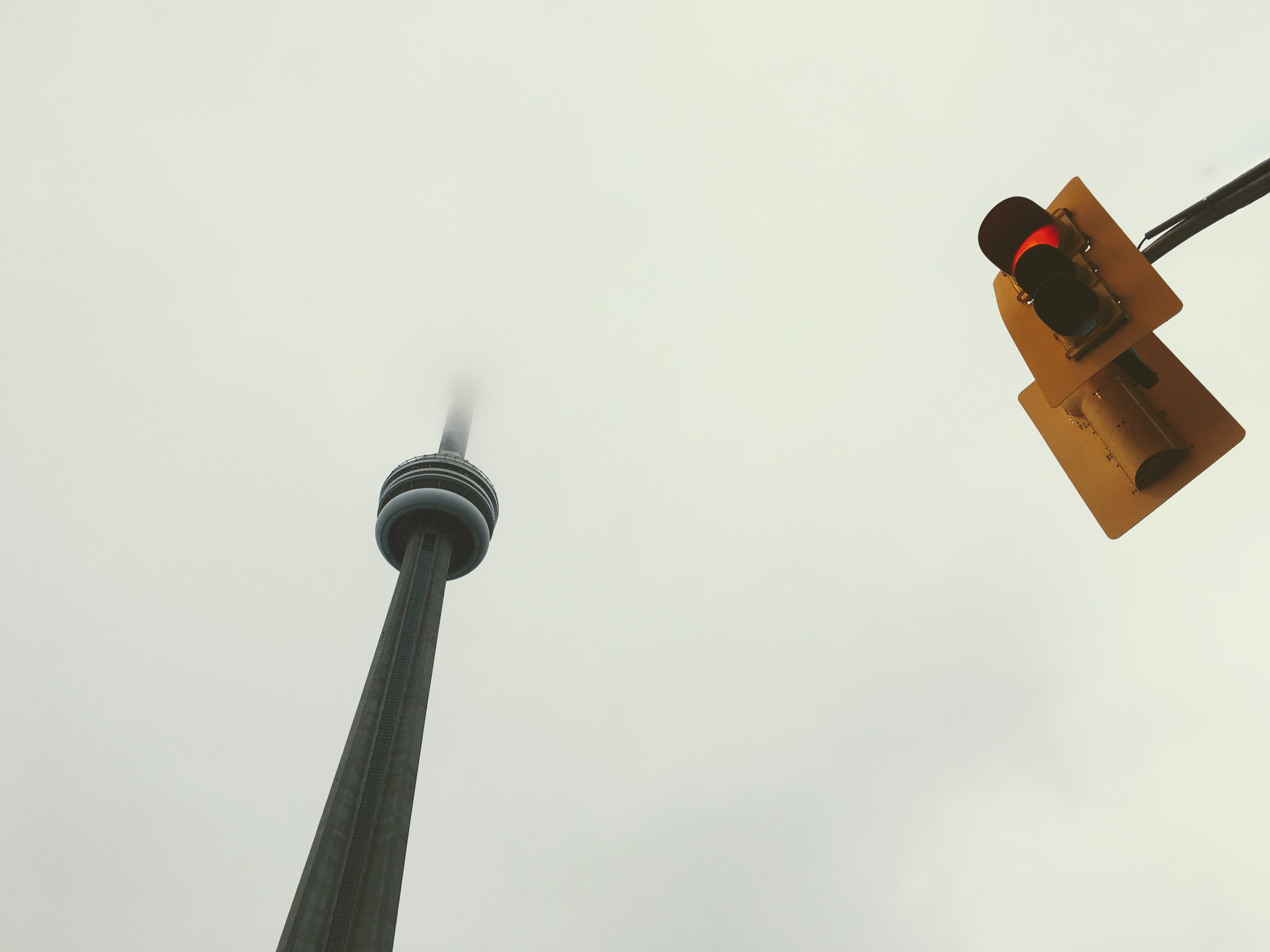 Tourist shot of CN Tower in Toronto at the Entertainment District