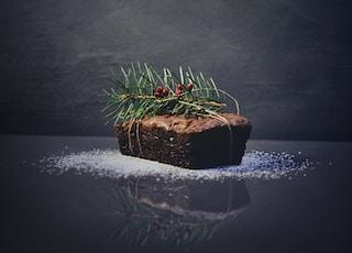 green plants on baked bread