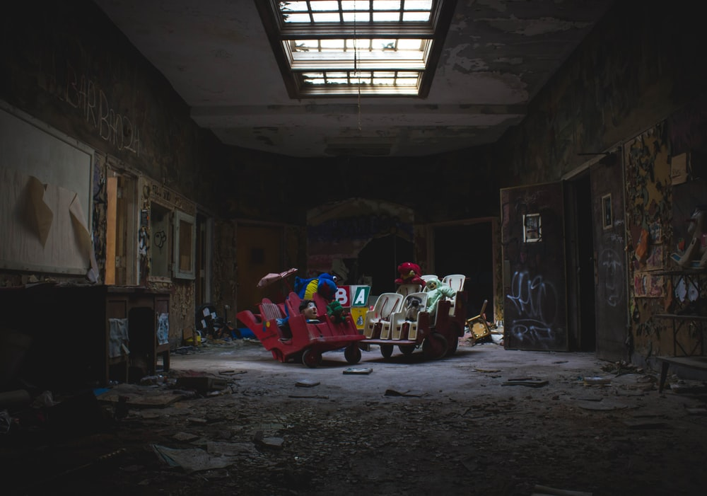 A children's playroom in the abandoned building of the Rockland Psychiatric Center.