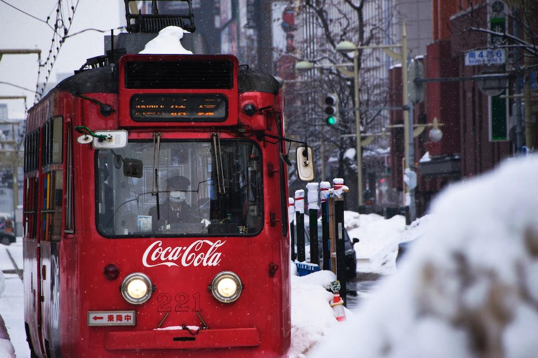 Coca Cola trolleybus in Japan