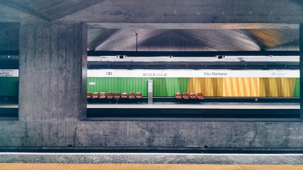photo of gray train station