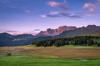 Idyllic Seiser Alm meadow