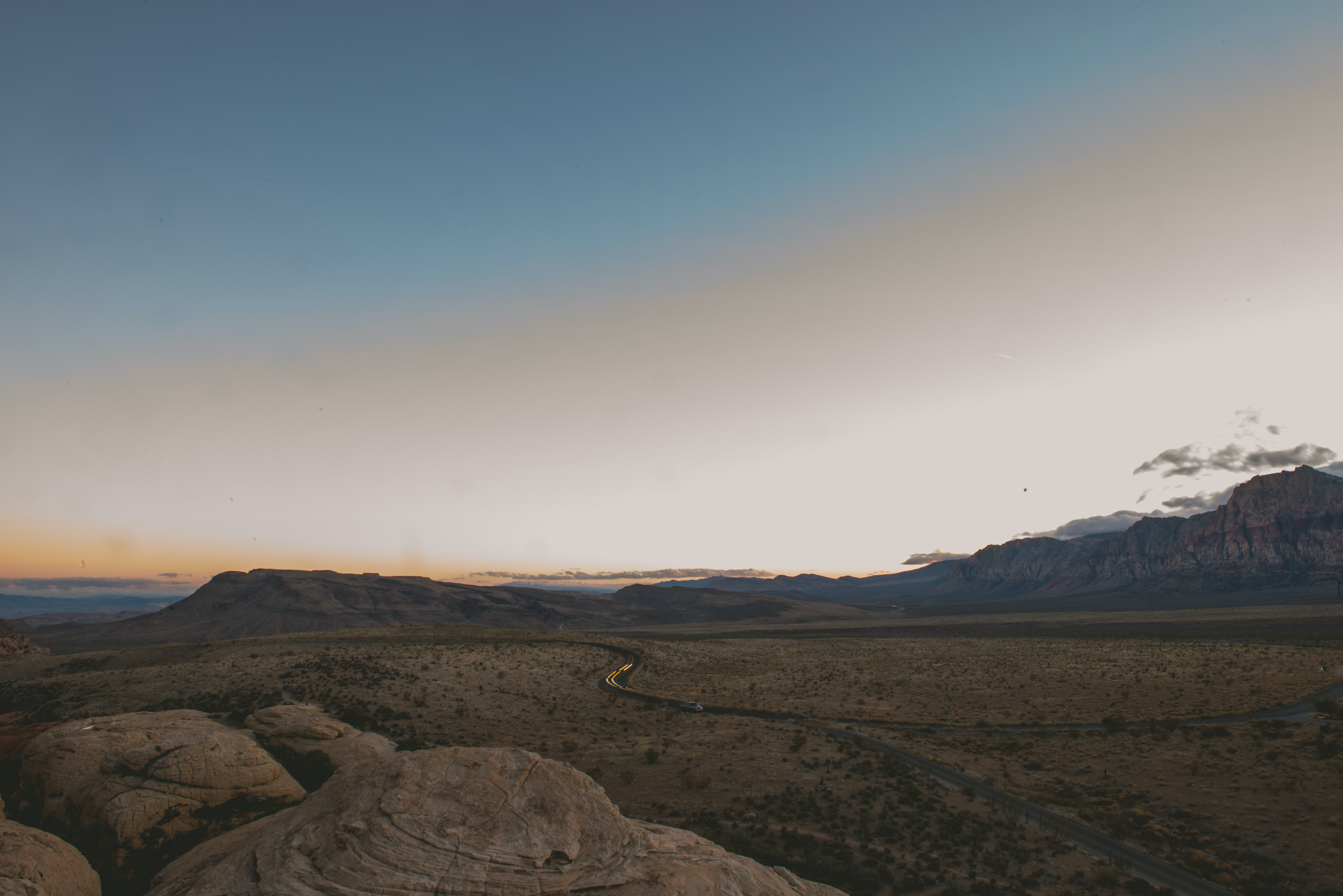 wide angle photography of land