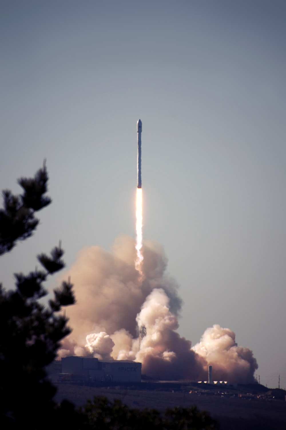 white missile launch during daytime