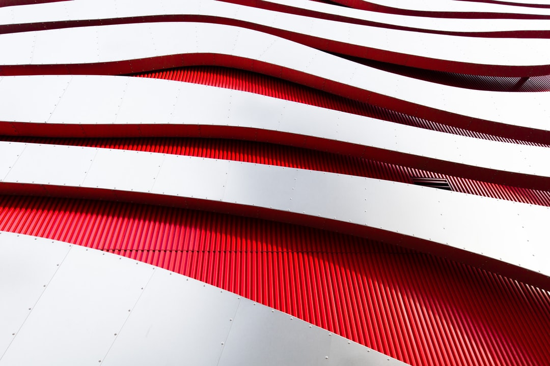 A close-up of one of my favorite eye-catching pieces of architecture in LA the Petersen Automotive Museum.