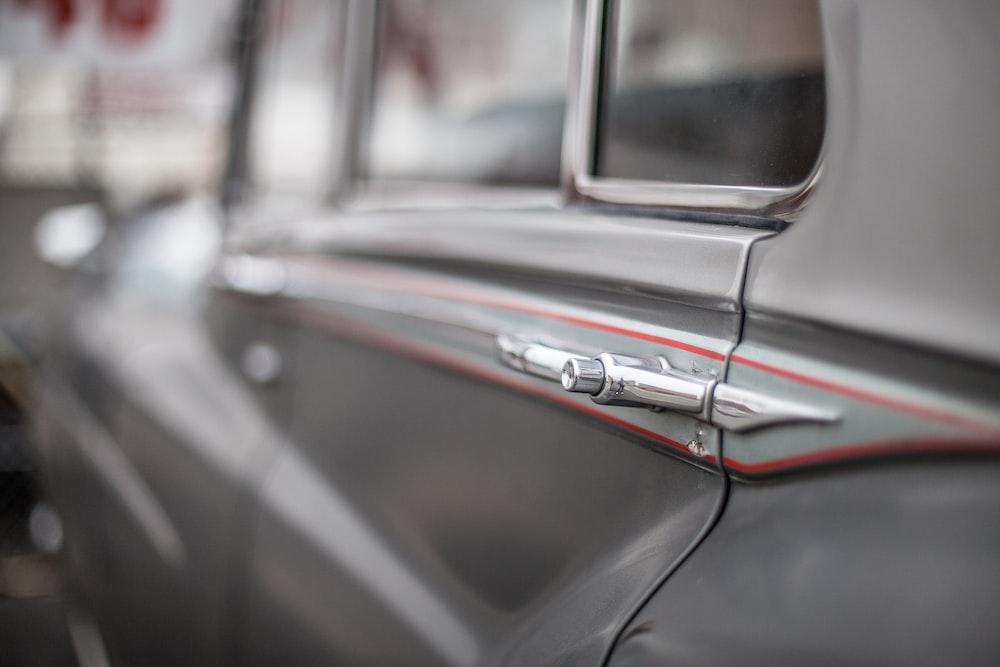 silver car door photography