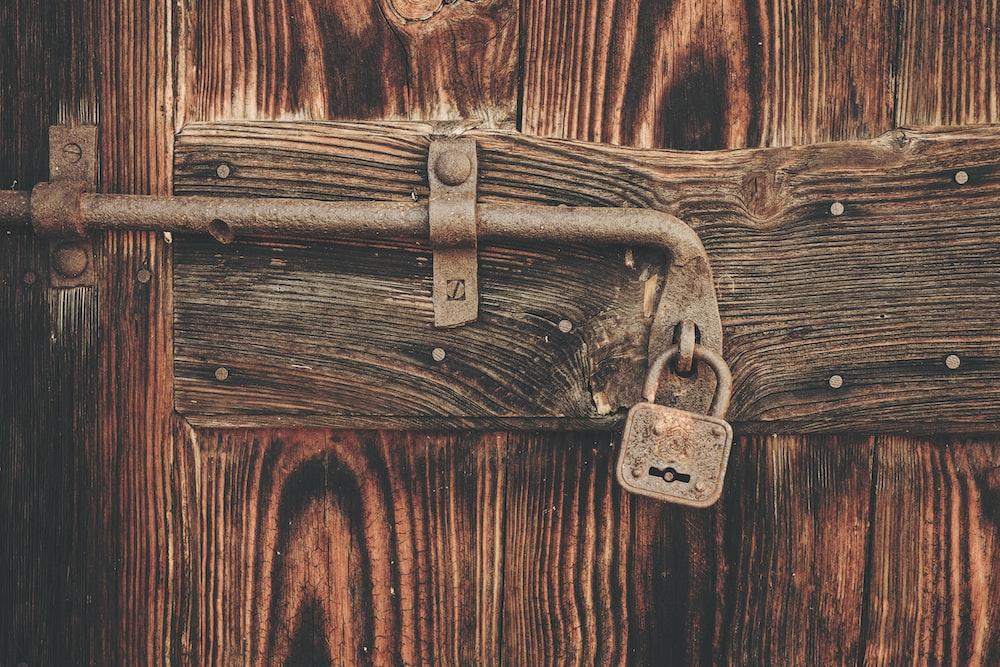 brown padlock
