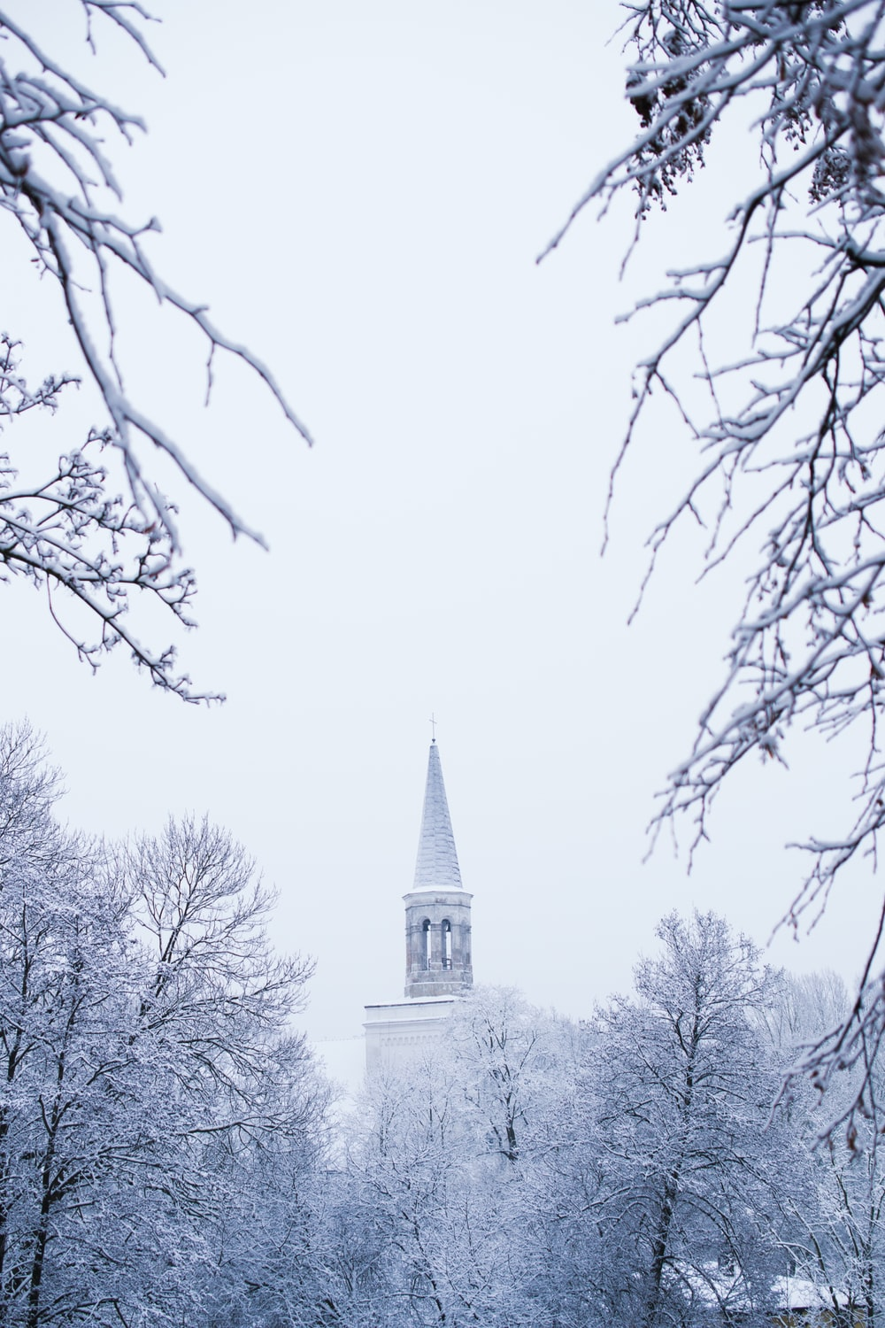 church during winter day