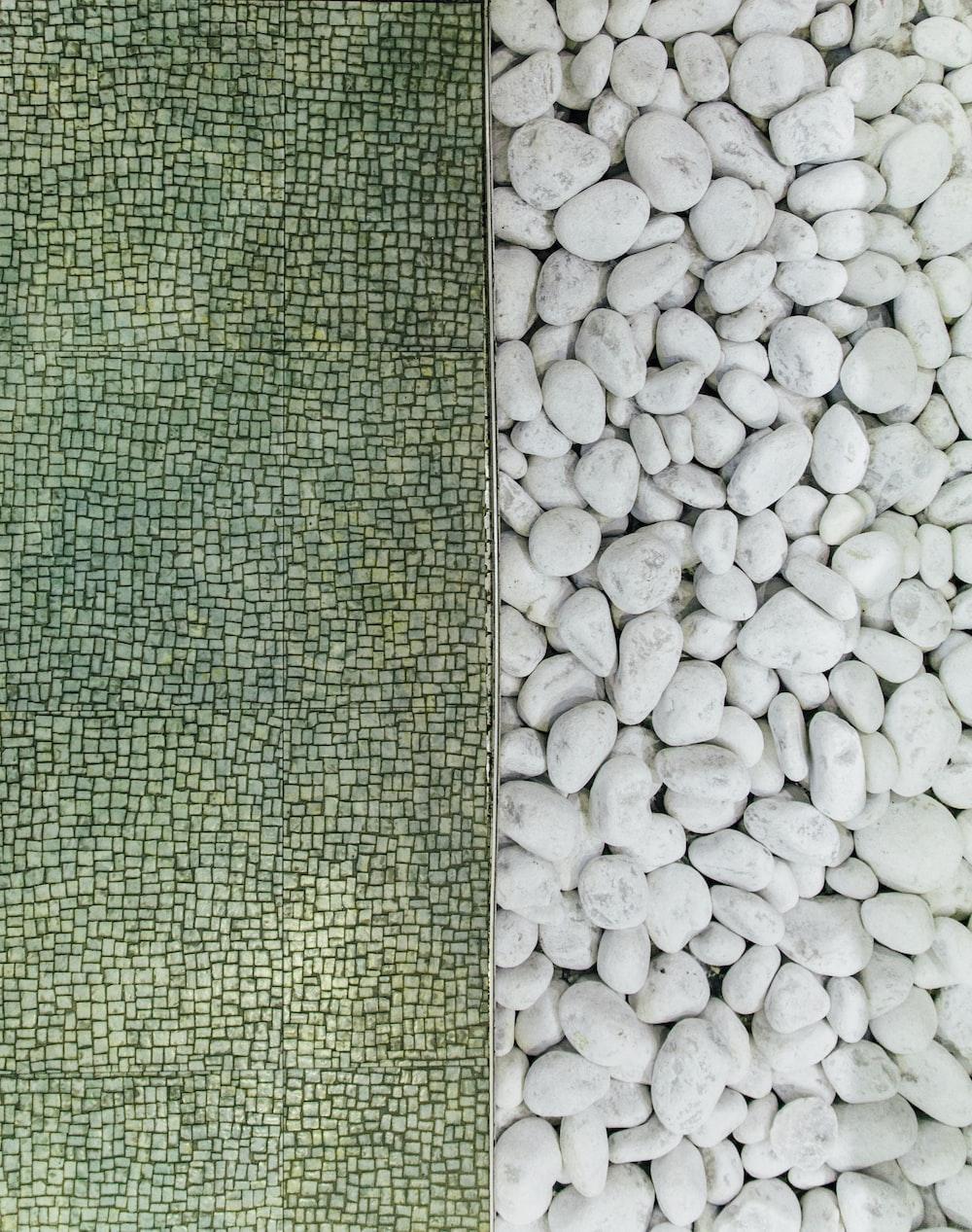 white pebble lot collage