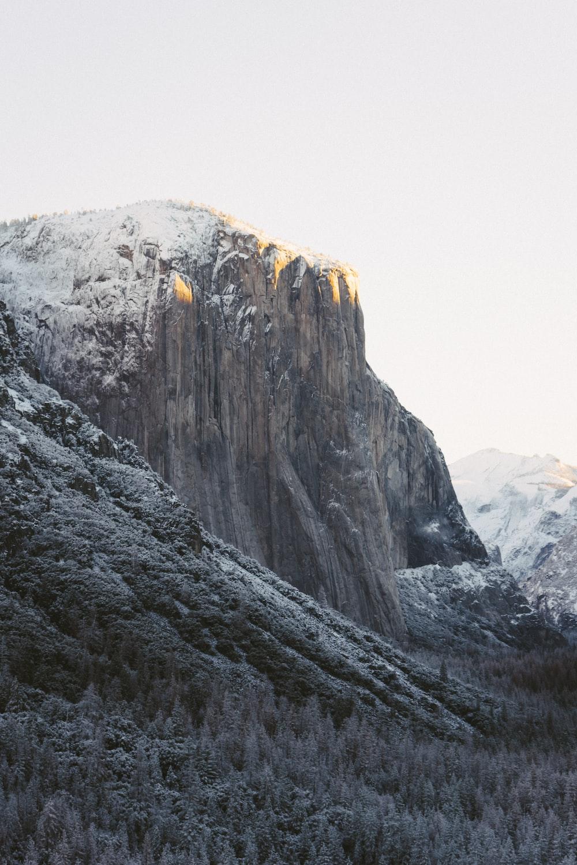 landscape photography of ridege