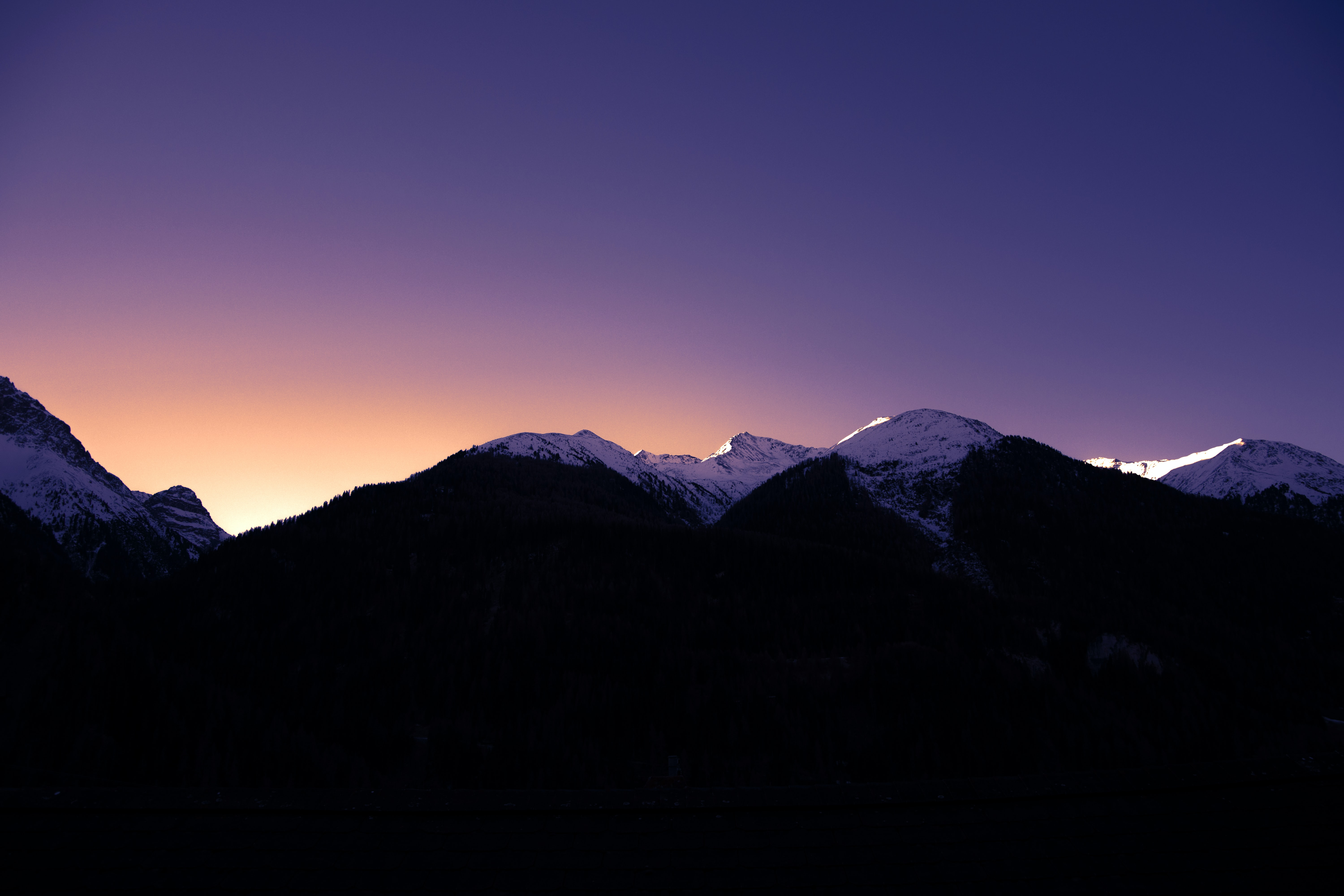 silhouette photo of mountain photography