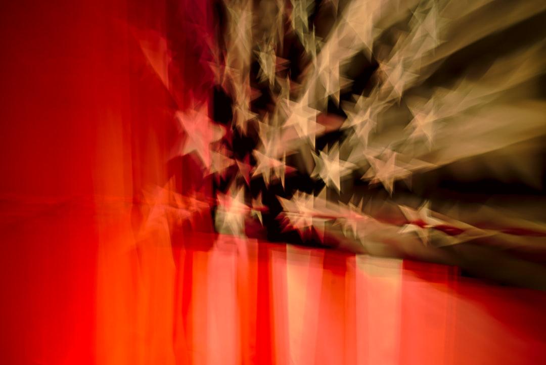 Blurry American Flag