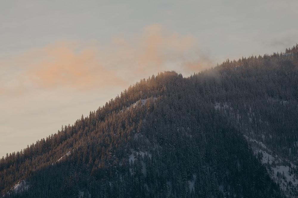 green mountain during dautime