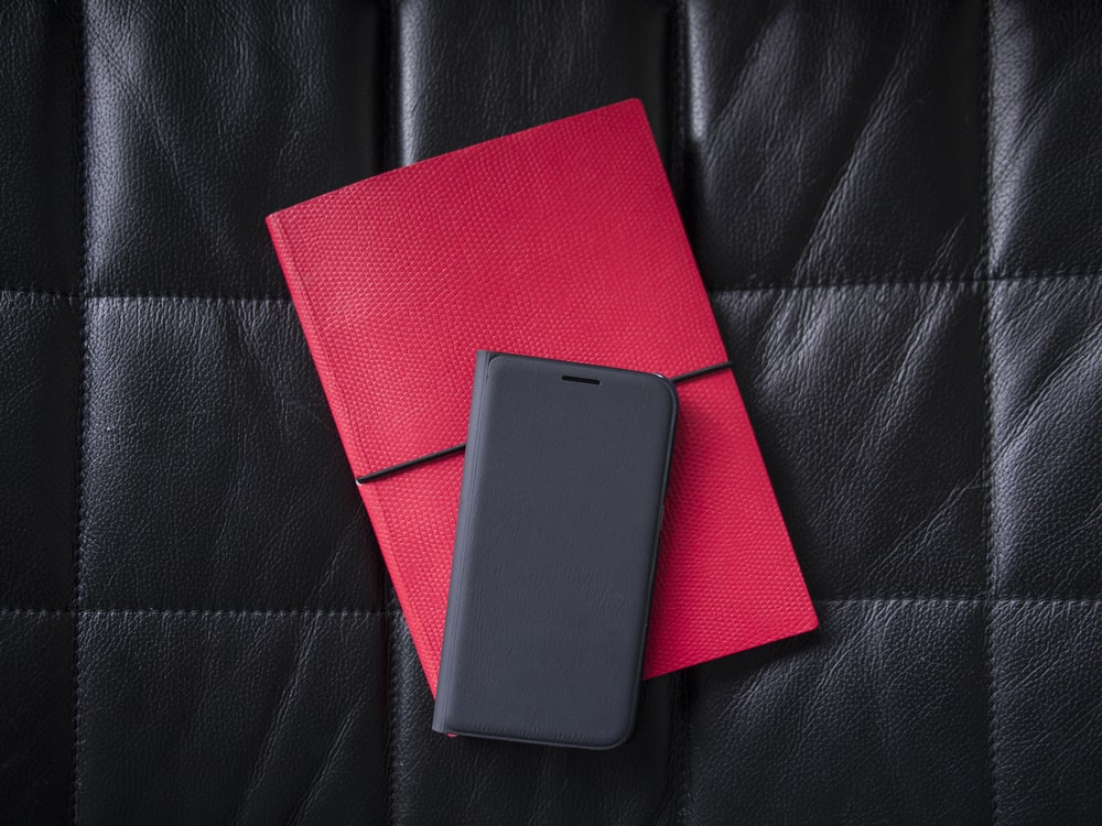 gray leather phone case