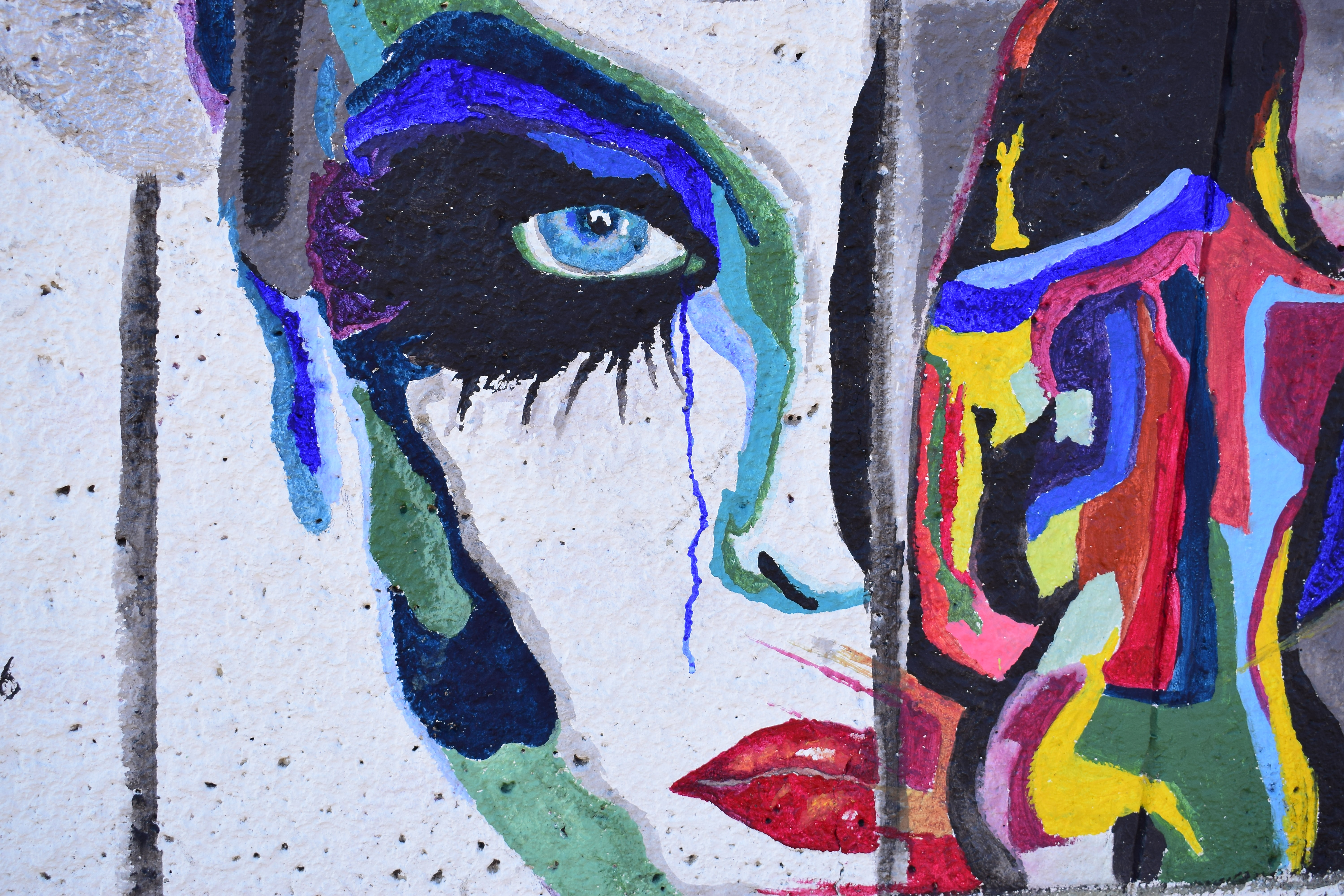An abstract female face painting.