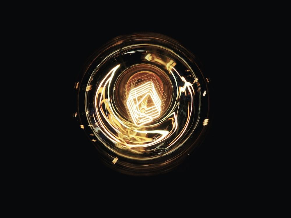 round gold lights