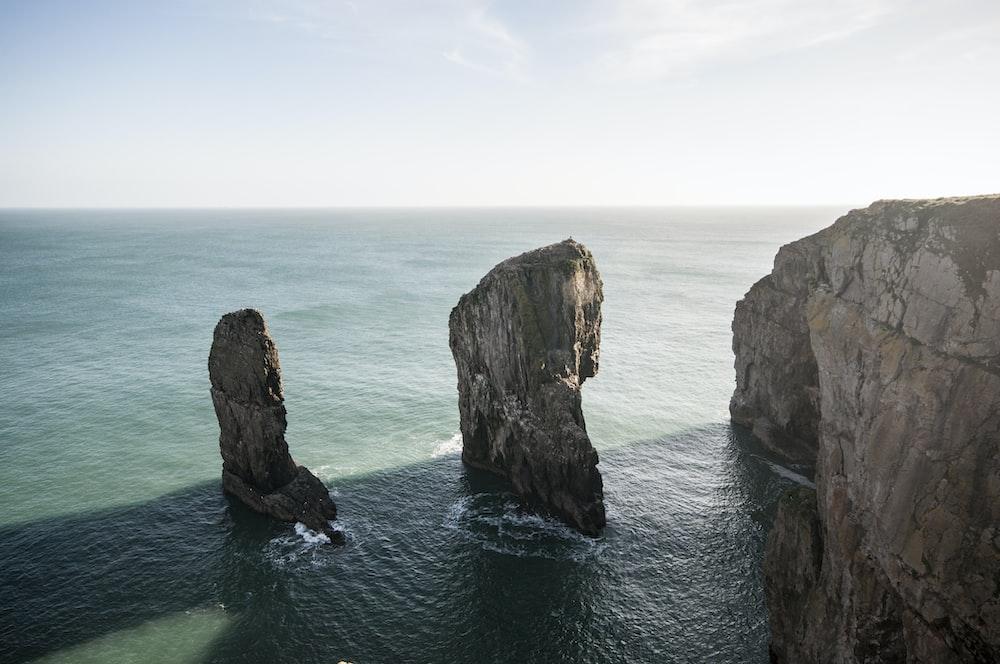 rock formation on ocean