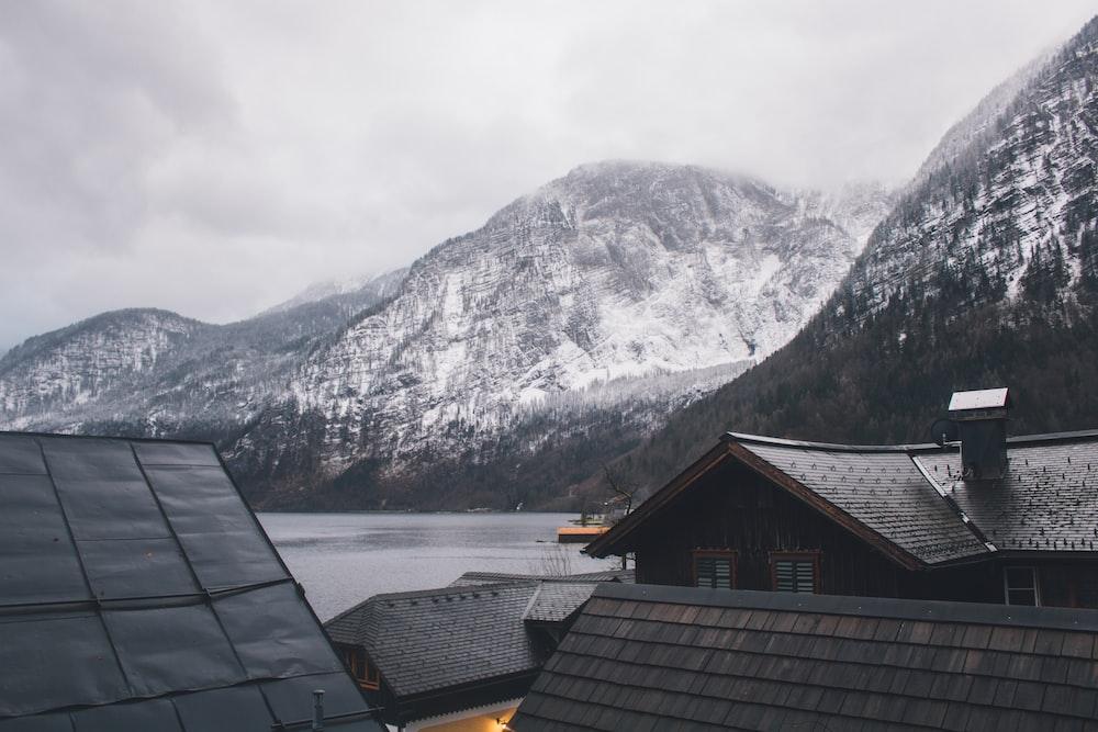 closeup photo of mountain