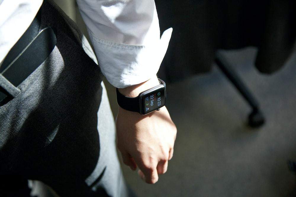 Apple Watch on person's wrist