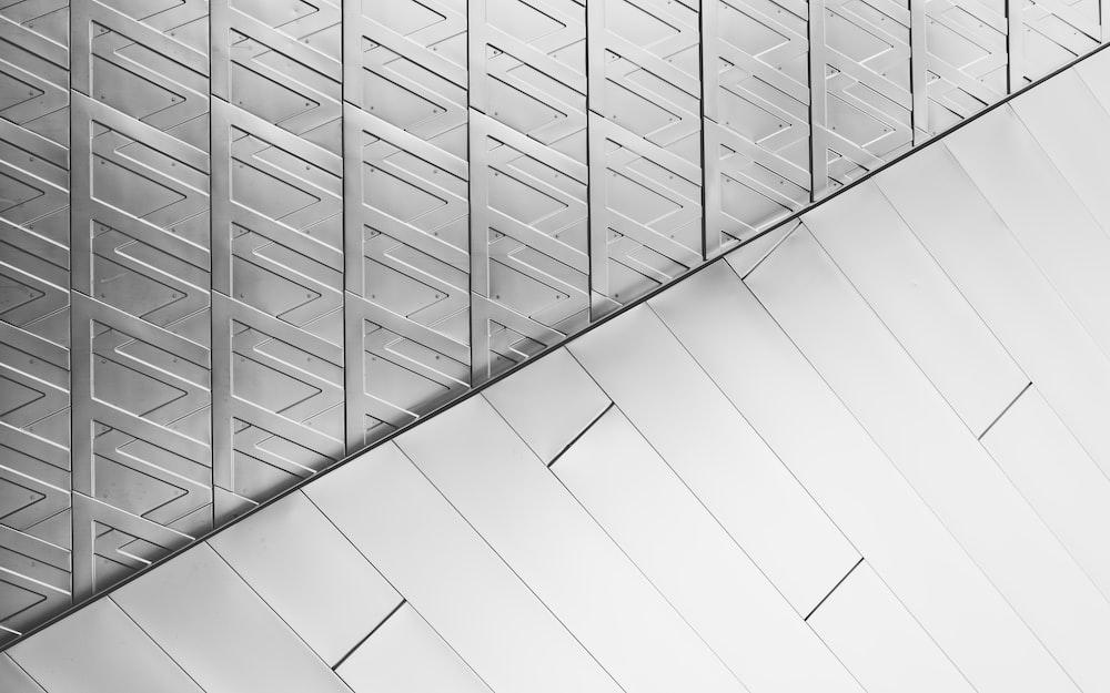 grayscale photo of flooring