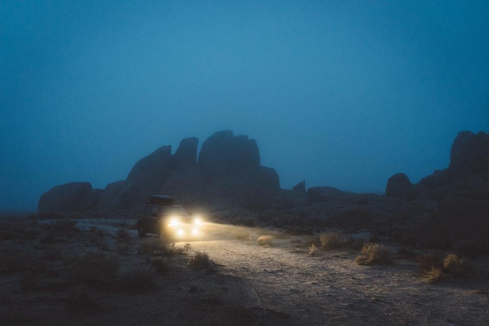 vehicle traveling during nighttime