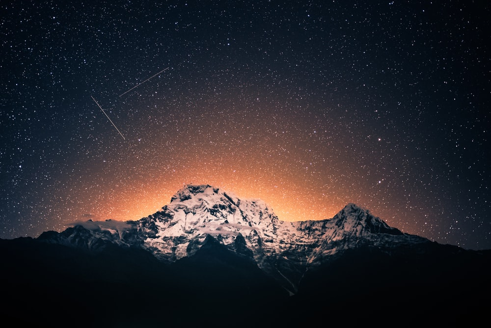 photo of mountains and sky