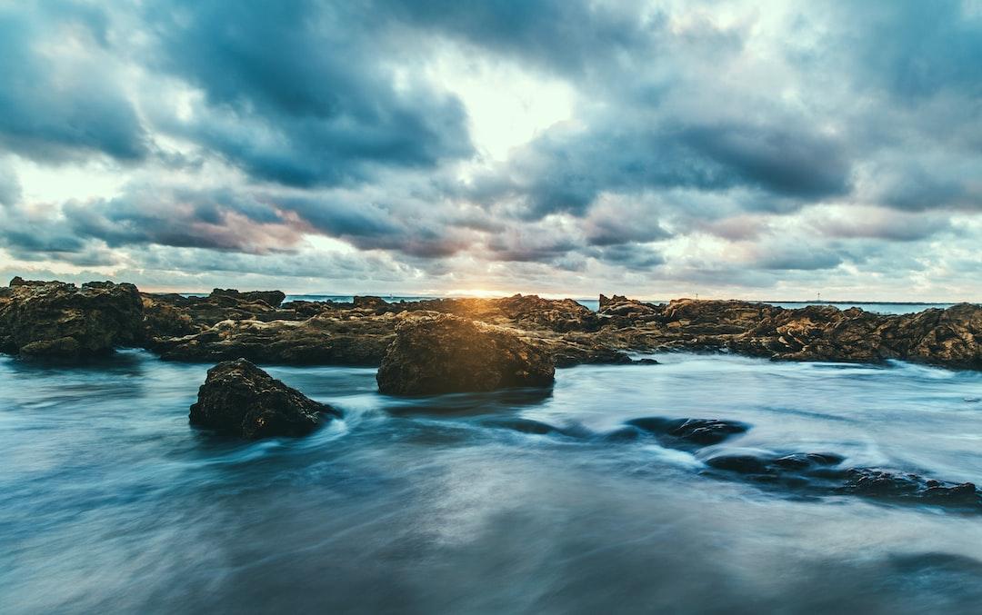 Sea horizon in Corona Del Mar