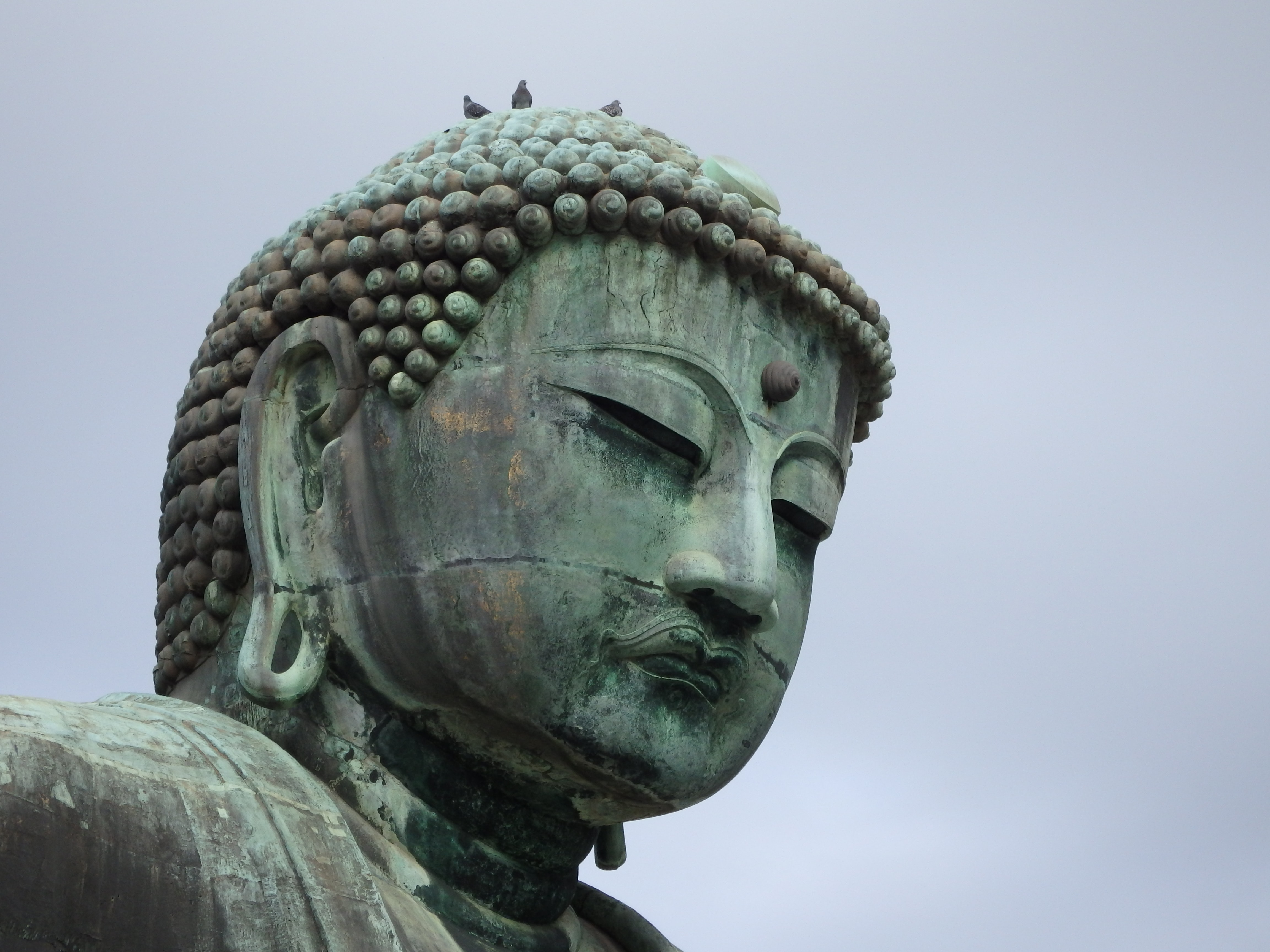 A large statue at a Buddhist temple.